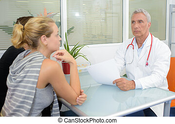 Couple in meeting with doctor