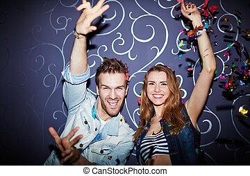 Couple in night club