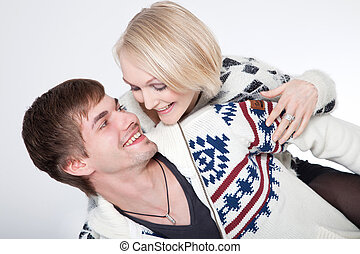 couple in photostudio