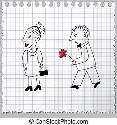 Couple in quarrel