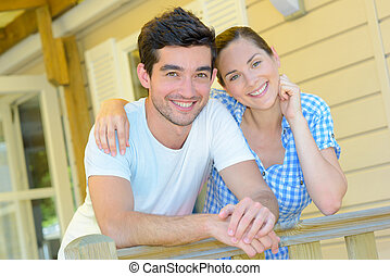 couple in the balcony