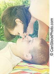 Couple in the grass