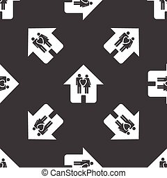 Couple in the house pattern