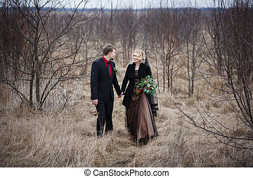 Couple in the wood