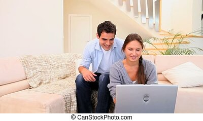 Couple in their living room