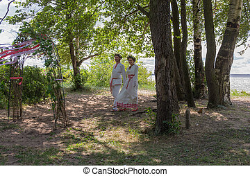 couple in traditional costume
