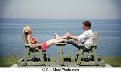 Couple in Vacation taking it Easy
