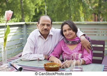 couple, indien, retiré