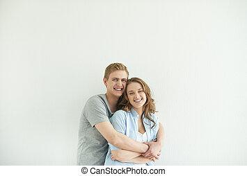 couple, insouciant