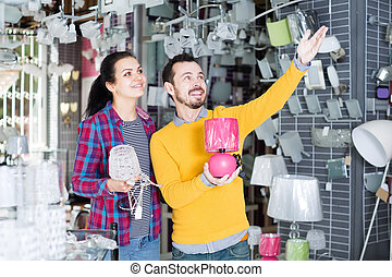 Couple is considering a range of bright lamps