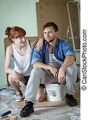 Couple is starting a redecoration