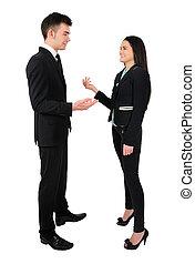 couple, isolé, business