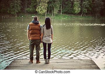 couple, jetée