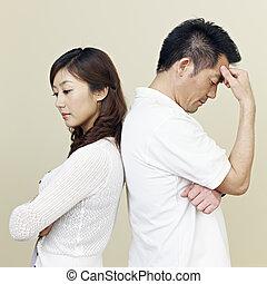 couple, jeune, asiatique