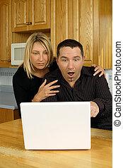 couple, jeune, internet