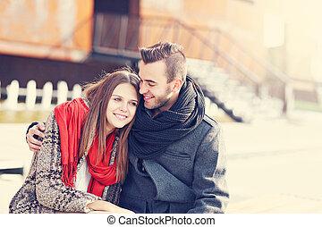 couple, jeune, romantique