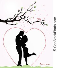 couple, jour, valentin