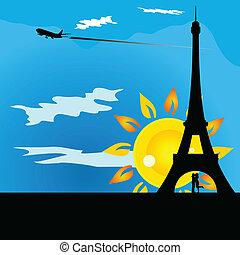couple kissing beneath the Eiffel Tower