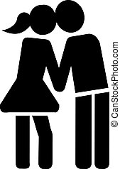 Couple kissing icon