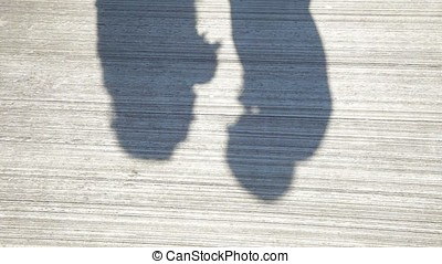 Couple Kissing Shadow. Shadows of Lover Bride and Groom on...