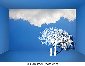 Silhouette Under Tree Stock Photo Images 2 455 Silhouette