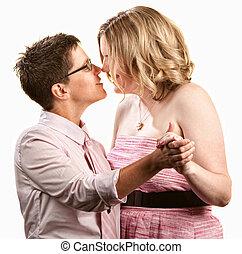 couple, lesbienne, danse