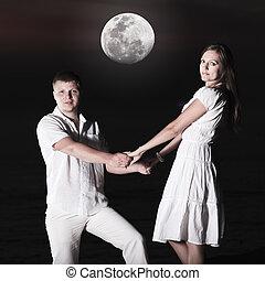 couple, levers de soleil