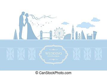 Couple London vector