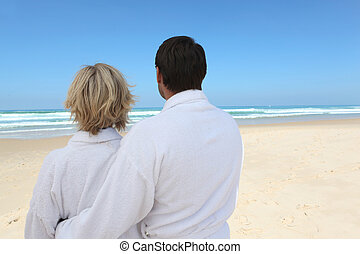 couple looking at the beach