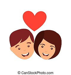couple love relationship icon