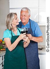 couple, lunettes vin