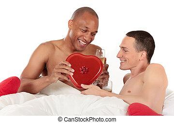 couple mélangé, ethnicité, gay
