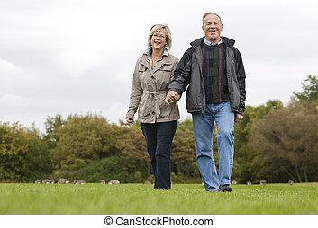 couple, mûrir, dehors