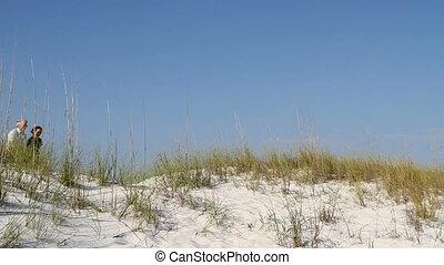 couple, mûrir, dune