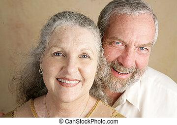 couple, mûrir, magnifique