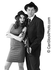 couple, mafia, italien