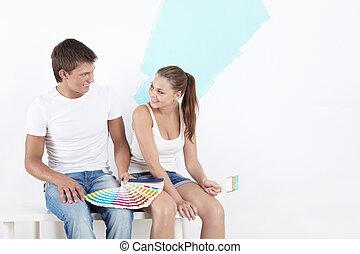 Couple makes repairs