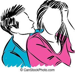couple man and woman vector illustration