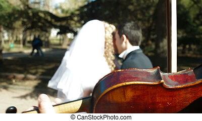 couple marié, juste, danse