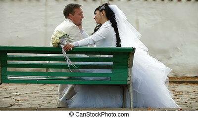 couple marié, juste, séance