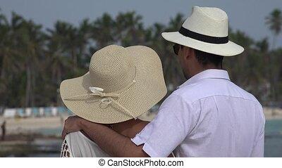 couple, mariés, romantique
