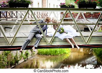 couple, mariage, beau