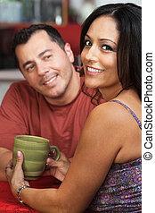 couple, mexicain, séduisant