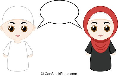 couple, musulman, gens