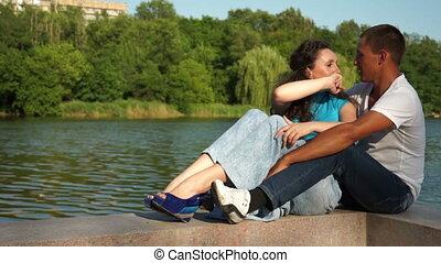 Couple near pond