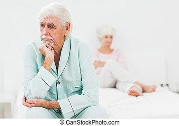 Couple not speaking