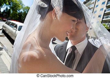 couple, nouveau marié