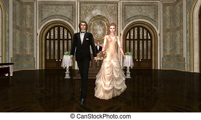 couple, nuptial