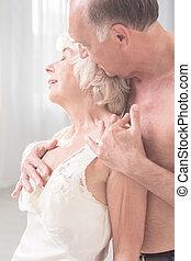 couple, obtenir, intime