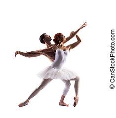 Couple of ballet dancers